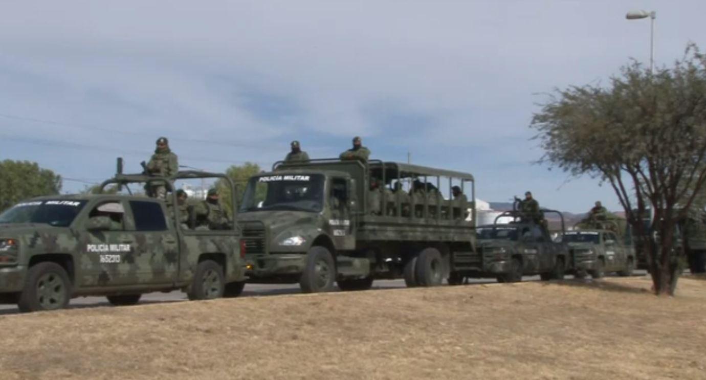 Llegan a Guanajuato mil elementos de la Policía Militar