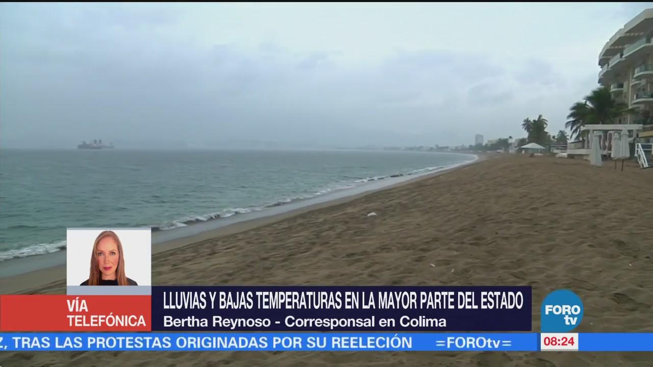 Lluvias Bajas Temperaturas Afectan Colima