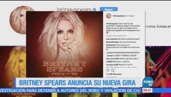 #LoEspectaculardeME: Britney Spears anuncia su nueva gira 'Pice of me'