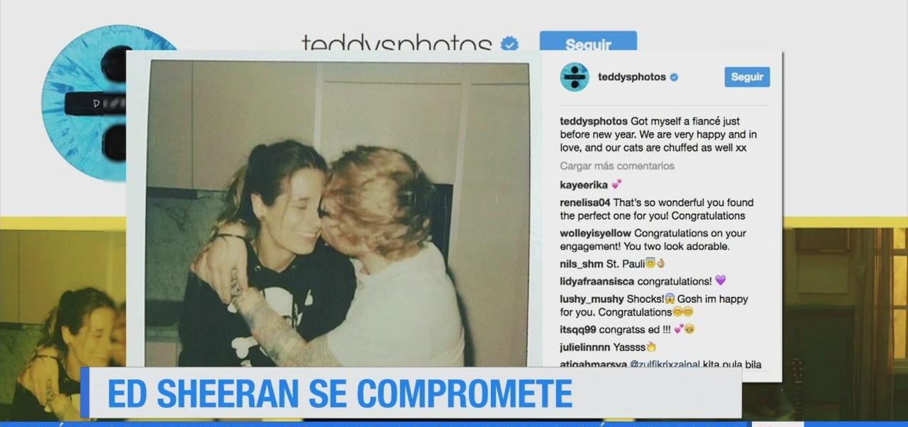#LoEspectaculardeME: Ed Sheeran se compromete para casarse
