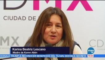 Madre de modelo argentina declara en PGJCDMX