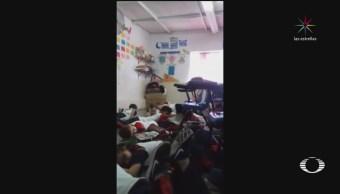 Maestra realiza simulacro ante balacera en Sonora