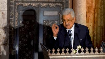 Mahmud Abbas durante una conferencia en El Cairo