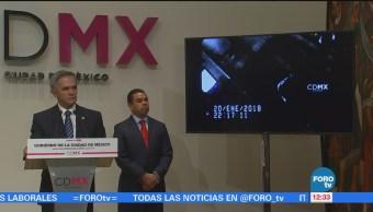 Mancera reconoce a operadores de las cámaras de vigilancia del C5