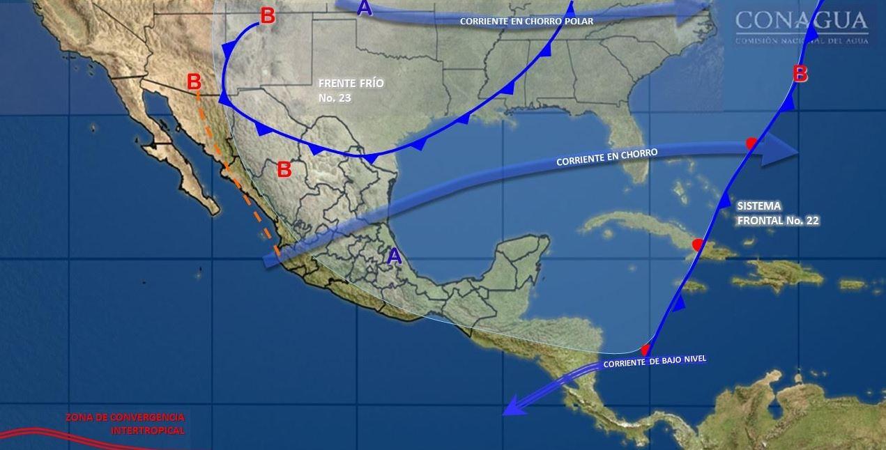 Se mantienen bajas temperaturas en México