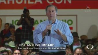 Meade menciona por su nombre a precandidatos de otras coaliciones