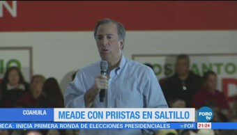 Meade platica con priistas en Saltillo Coahuila