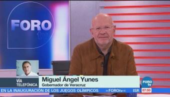 Miguel Ángel Yunes: Disminuyen delitos en varios puntos de Veracruz