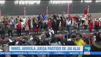 Mikel Arriola Juega Partido Jai Alai