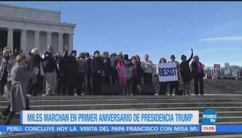 Miles conmemoran movimiento de la Marcha de Mujeres