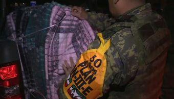 Militares aplican Plan DN-III en Nuevo León por frío intenso