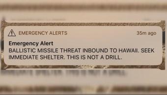 Falsa alerta de misil balístico a Hawái causa pánico en residentes