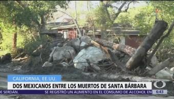 Mueren migrantes mexicanos en deslaves de California
