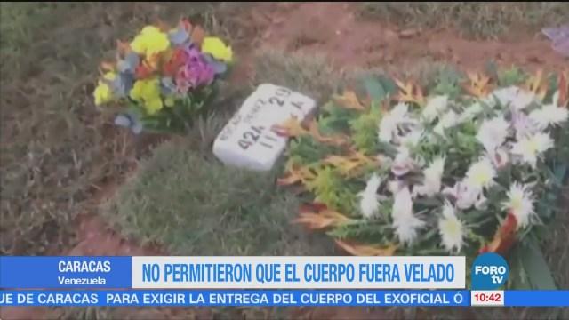 No permitieron que el cuerpo del venezolano Óscar Pérez fuera velado
