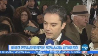 Nuño pide destrabar pendientes del Sistema Nacional Anticorrupción