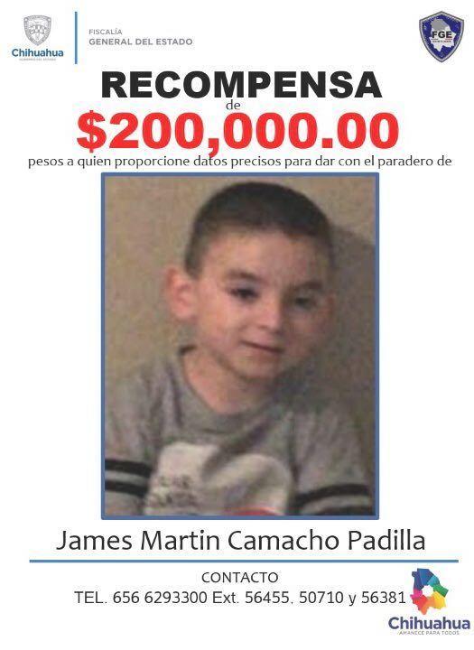 Ofrecen recompensa por James Martin Camacho Padilla
