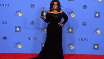 Oprah Winfrey durante la gala de los Globos de Oro. (AP)