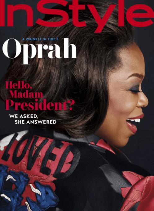 Oprah Winfrey en la portada de InStyle. (http://www.instyle.com)