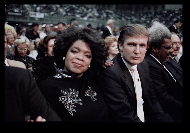 Oprah Winfrey y Donald Trump en junio de 1998. (Getty Images, archivo)