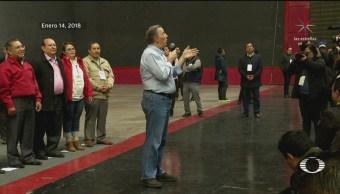 Osorio Chong acompaña a Meade, en Pachuca
