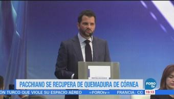 Pacchiano sufre quemadura de córnea tras evento en Querétaro