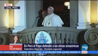 Papa Francisco Defiende Etnias Amazónicas Perú Valentina Alazraki