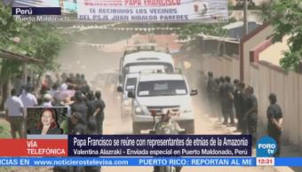 Papa se reúne con indígenas de la Amazonia peruana