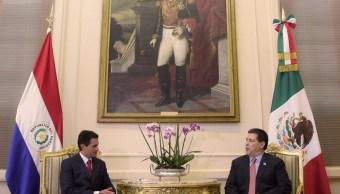 Peña Nieto y Cartes acuerdan avanzar en fortalecimiento de latinoamericana