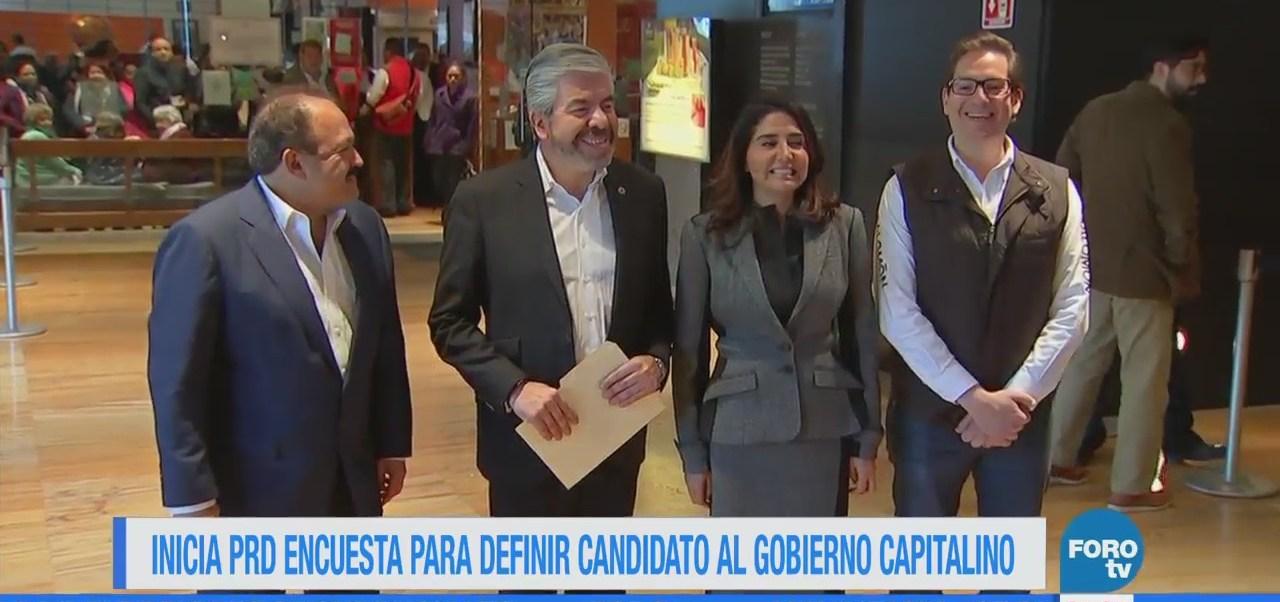 PRD inicia encuesta para definir candidato al gobierno de la CDMX