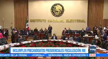 Precandidatos Presidenciales Incumplen Rendición Cuentas Ine