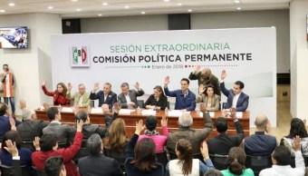 comision politica permanente del pri aprueba inclusion de candidatos ciudadanos a diputados