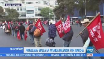 Problemas viales por marcha en la Ciudad de México