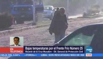Protección Civil Alerta Población Bajas Temperaturas País