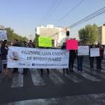 Damnificados del sismo exigen mayor seguridad; bloquean avenida Monterrey, CDMX