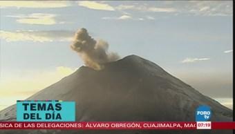 Recomiendan no acercarse a zona de expulsión del Popocatépetl