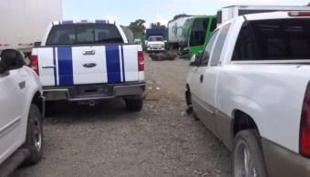 Aseguran en Hidalgo bodegas donde desmantelan autos y camiones robados