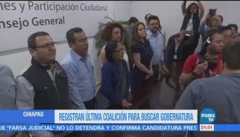 Registran última coalición para buscar gubernatura de Chiapas