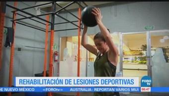 Ximena Cervantes presenta un reportaje sobre rehabilitación de lesiones deportivas
