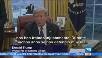 Renegociación Tlcan Bastante Bien Trump Estados Unidos