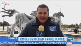 Reportan Hasta Menos 9 Grados Bajo Cero Chihuahua