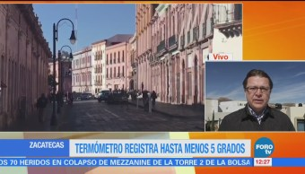 Reportan hasta nueve grados bajo cero en Zacatecas