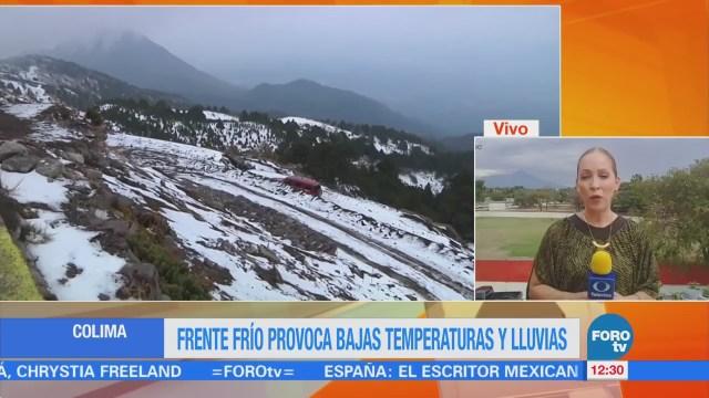 Reportan lluvia y aguanieve en zonas montañosas de Colima