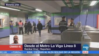 Restablecen servicio en Línea 8 del Metro CDMX tras muerte de hombre