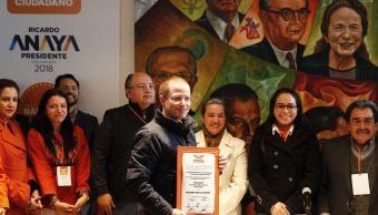 ricardo anaya se registra como precandidato presidencial por movimiento ciudadano