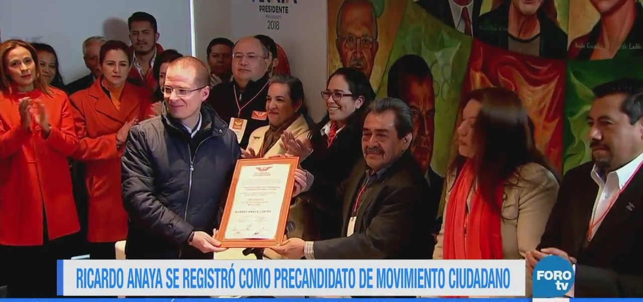 Ricardo Anaya se registra como precandidato de Movimiento Ciudadano