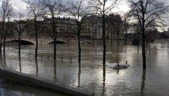 rio sena alcanza su nivel maximo; autoridades preven lento descenso del agua