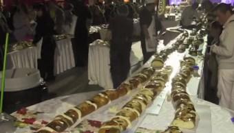preparan rosca reyes gigante merida yucatan