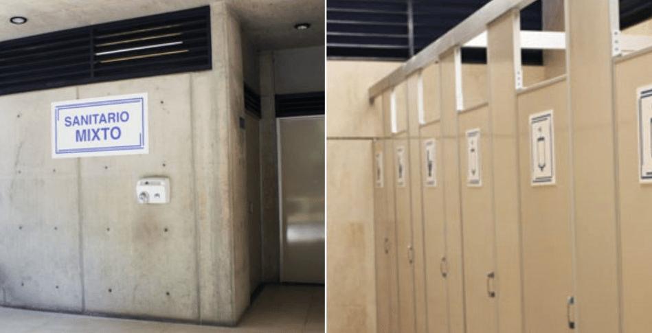 UNAM coloca los primeros baños mixtos en una escuela