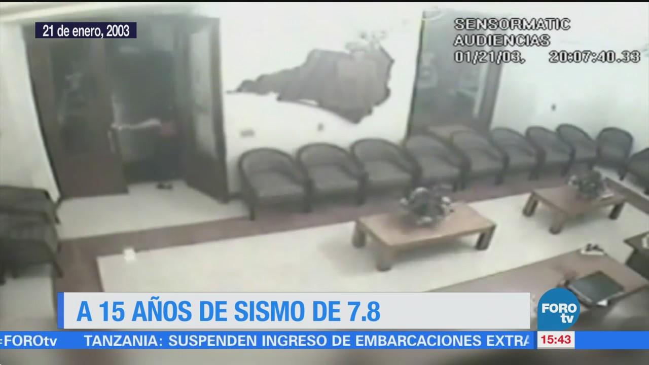 Se cumplen 15 años del sismo magnitud 7.8 en Colima