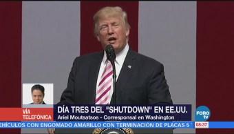 Se cumplen tres días del cierre de Gobierno en Estados Unidos